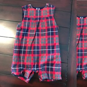 EUC Boys Janie and Jack Overall Shorties